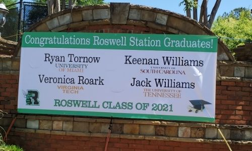Graduation celebration Banners VIPdecals Roswell GA