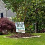 Georgia high school graduation yard sign in front yard