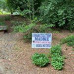 Georgia high school graduation yard sign in yard
