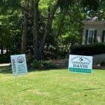 Georgia middle school graduation yard sign in front yard