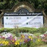 Laurian park neighborhood graduation banner