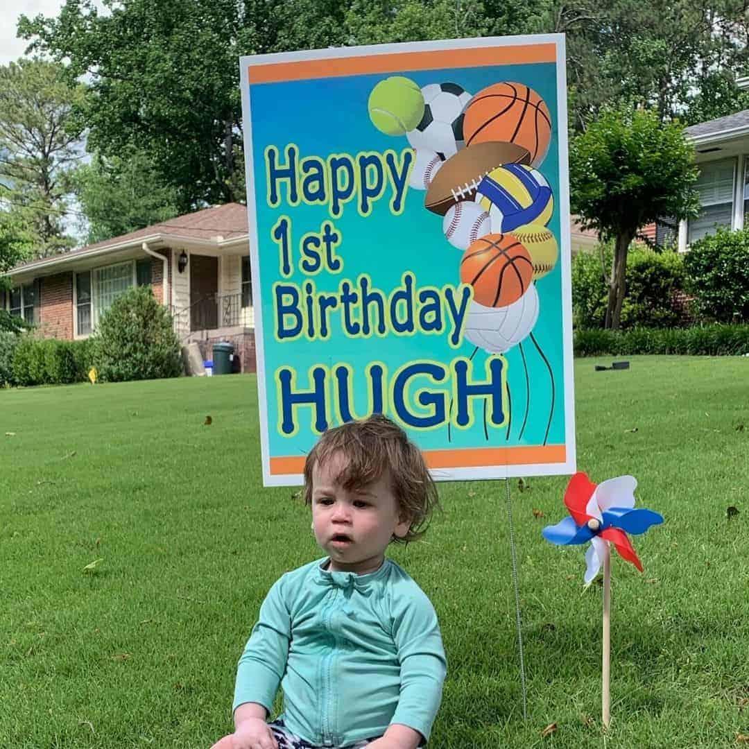 happy first birthday yard sign