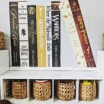 playroom wall art with book spines
